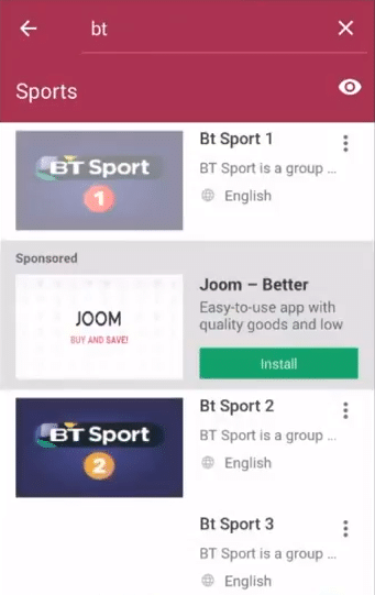 sports mobdro channel